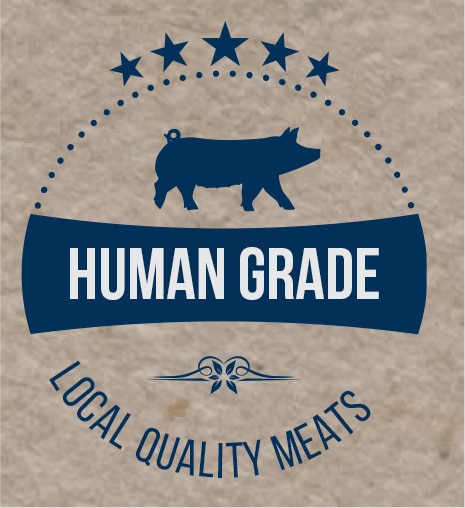 Graphic human grade local quality meats